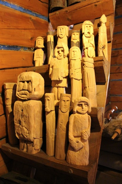 drevené sošky